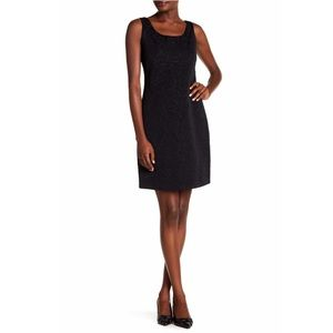 Sleeveless Brocade Dress in Black